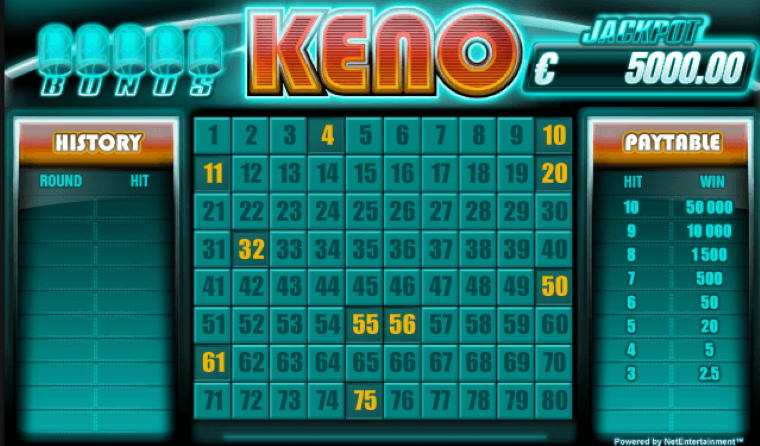 Play Keno Games Online